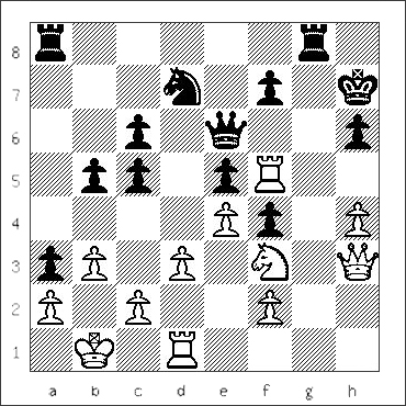 chess diagram of position leading to a Dovetail Mate