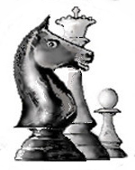 CCLA serverchess logo, knight, queen and pawn chess piece group