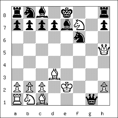 chess diagram of position leading to a Smothered Mate