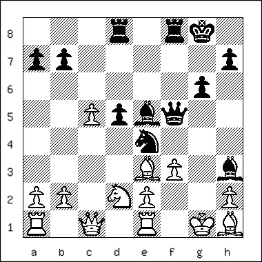 chess diagram of position leading to a David and Goliath Mate
