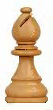 Photograph of the Bishop chess piece (Staunton pattern)
