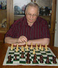 CCLA member Paul D. Shannon photographed at chessboard