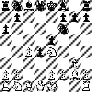black and white diagram of a chess position