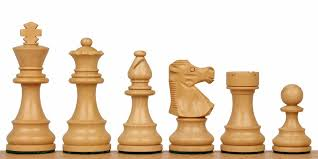 Picture of the White pieces - Staunton pattern wood chess set